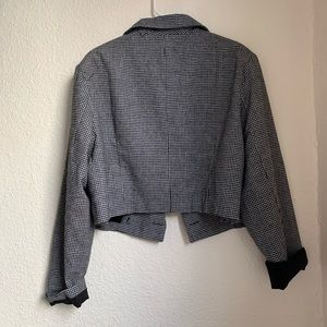 Forever 21+ crop tweed blazer